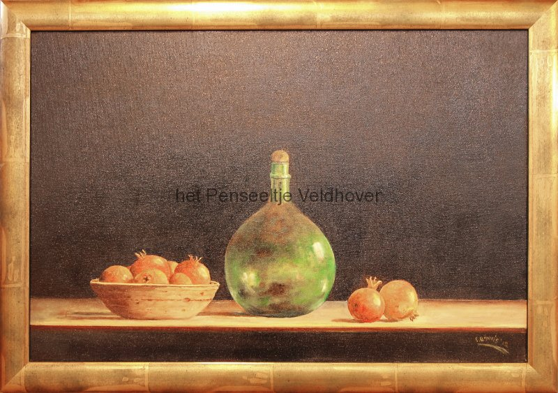 elsrijnvis-stilleven-met-fles-en-granaatappels