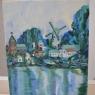 Tilly van Spreuwel - dorp aan het water