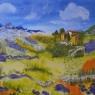 Adriana Zeegers Frans landschap acryl