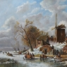 Dayke Gevers Winterlandschap olieverf