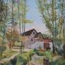 Dik van den Bos Stroompje (naar Daubigny) acryl
