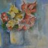 Jan van den Hurk Bloemen aquarel