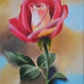 Lisanne Fabrie Roses are red, violets are blue acryl